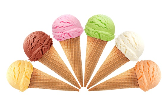 Wallpaper Ice creams, colorful, summer dessert