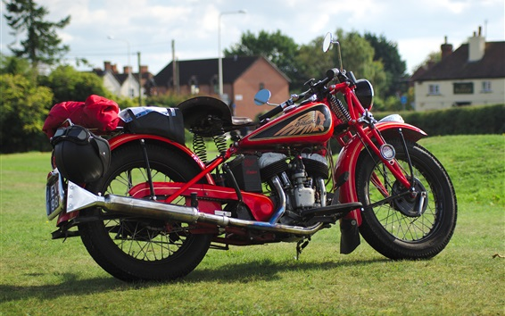 Wallpaper Indian red motorcycle