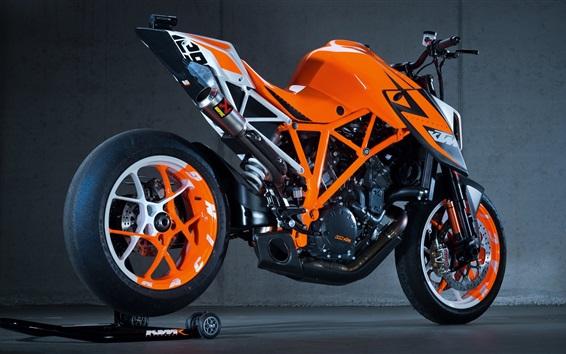 Wallpaper KTM motorcycle, orange