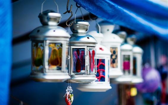 Wallpaper Lanterns, retro style