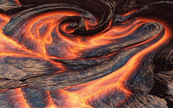 Обои Лава, вулкан, фотография природы