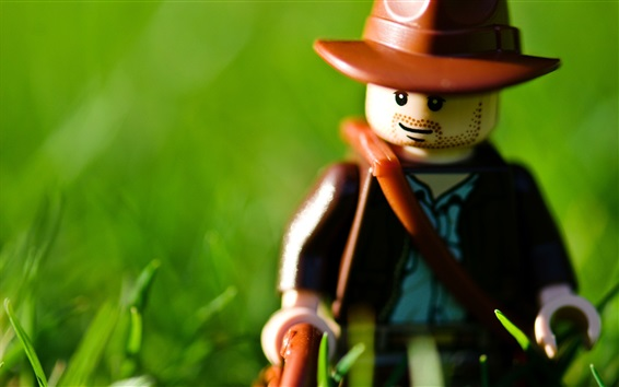 Wallpaper Lego toy, green background