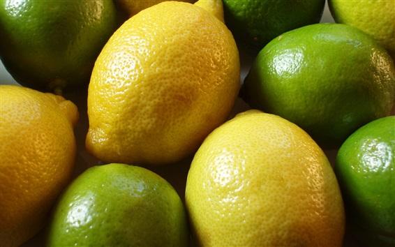 Wallpaper Lemon and lime, green and yellow