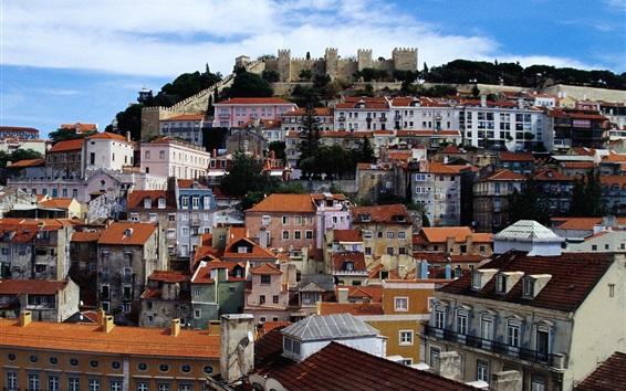 Papéis de Parede Lisboa, Estremadura, Portugal, cidade, casas