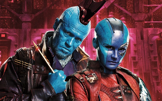 Fondos de pantalla Michael Rooker, Karen Gillan, Guardianes de la Galaxia 2