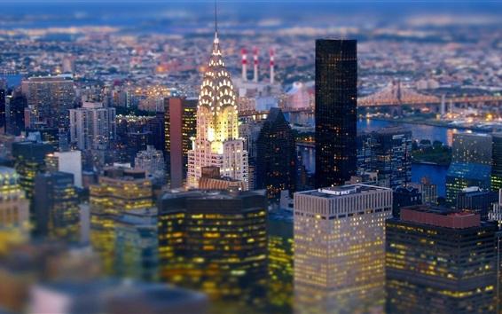Fond d'écran New York, bâtiments, gratte-ciel, vue sur la ville, États-Unis