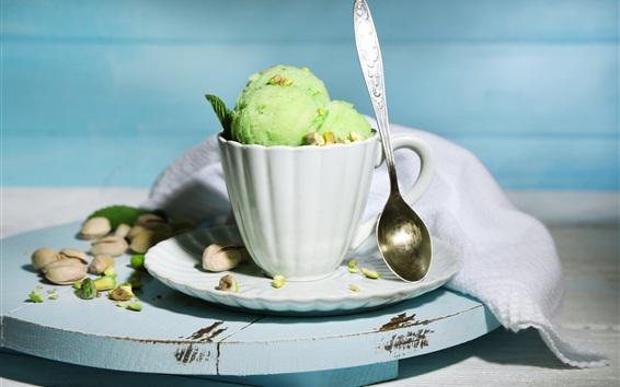 Fond d'écran Une tasse de glace, dessert d'été