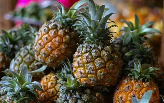 Обои Ананас, крупный план с фруктами