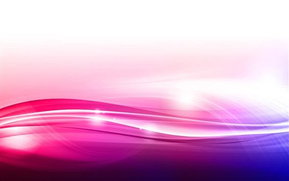 Fond d'écran Ligne de style violet et rose ondulé
