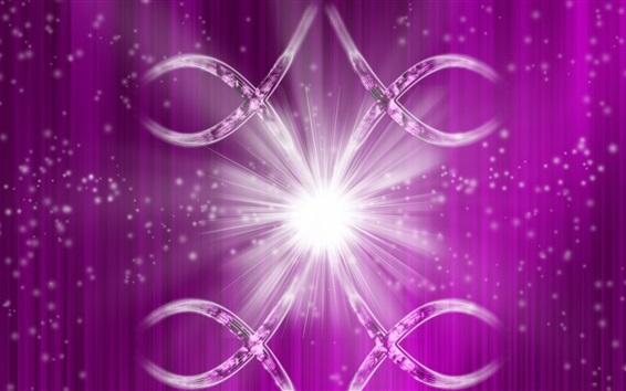 Wallpaper Purple background, glitter, rays, shine, abstract