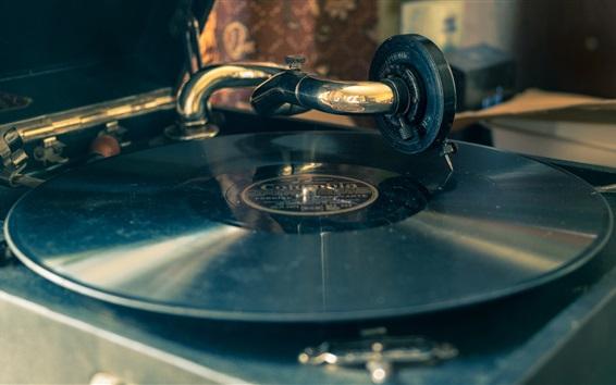 Wallpaper Record player, retro