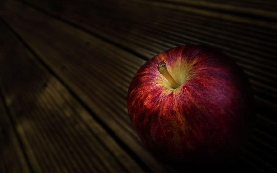 Wallpaper Red apple, dark background