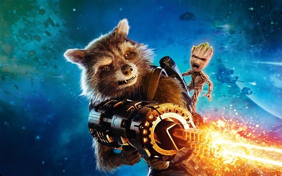 Fondos de pantalla Rocket Raccoon, Guardianes de la Galaxia Vol. 2