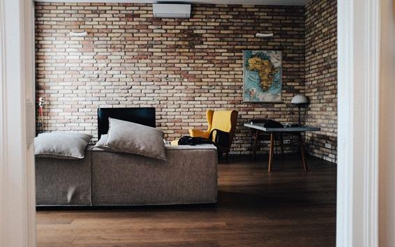 Обои Комната, диван, интерьер