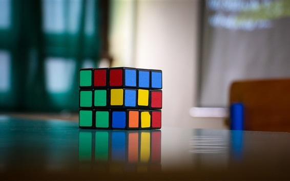 Обои Кубик Рубика, красочный