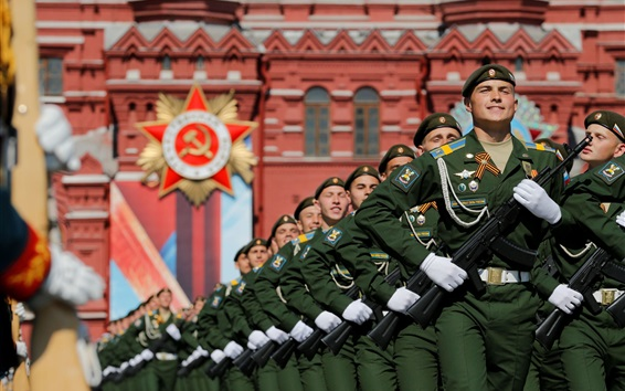Wallpaper Russian soldier, Red Square