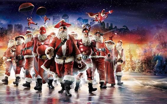 Fondos de pantalla Papá Noel, estilo diferente, creativo