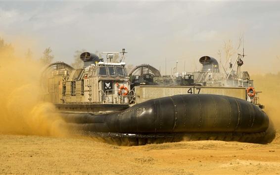 Wallpaper Ship, hovercraft, sands, dirt