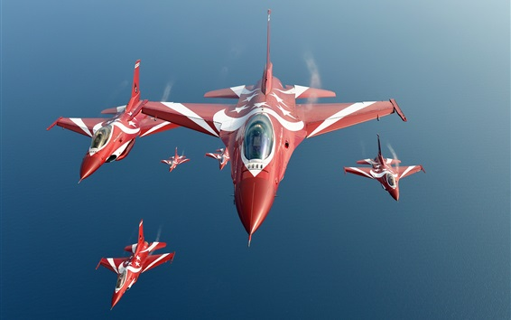 Wallpaper Singapore air force, F-16 Black Knights fighter