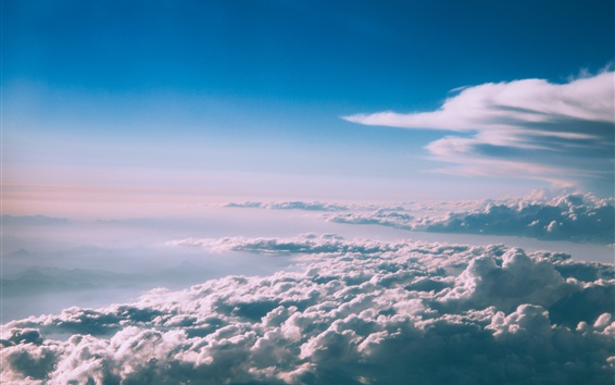 Wallpaper Sky, thick clouds