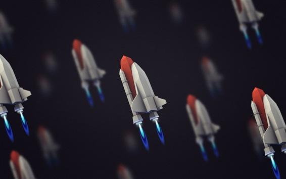 Wallpaper Spaceship flying