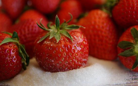 Wallpaper Strawberries, sugar