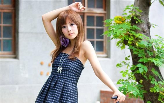 Wallpaper Summer dress Asian girl