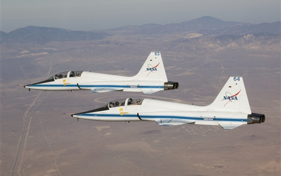 Wallpaper Supersonic jet, white aircraft, Talon, Northrop T-38A