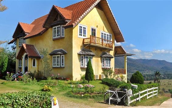 Wallpaper Thailand, mansion, garden, bike