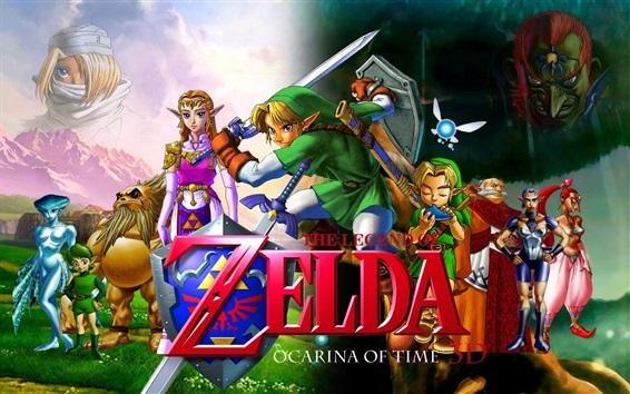 Wallpaper The Legend of Zelda, characters