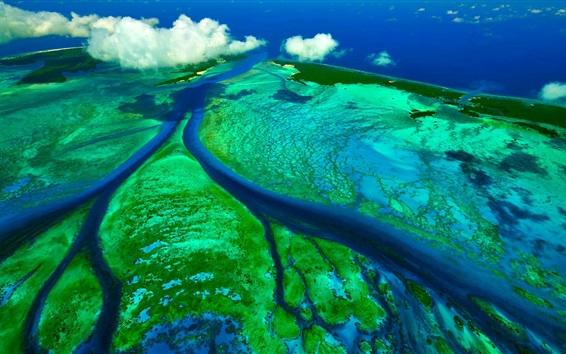 Papéis de Parede Canais de maré, Ilhas Sechelski, Oceano Índico