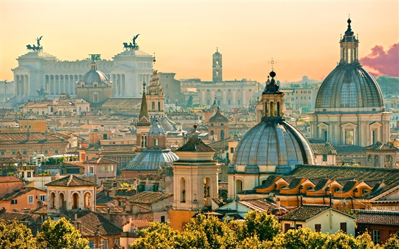 Wallpaper Travel to Rome, houses, city, Italy