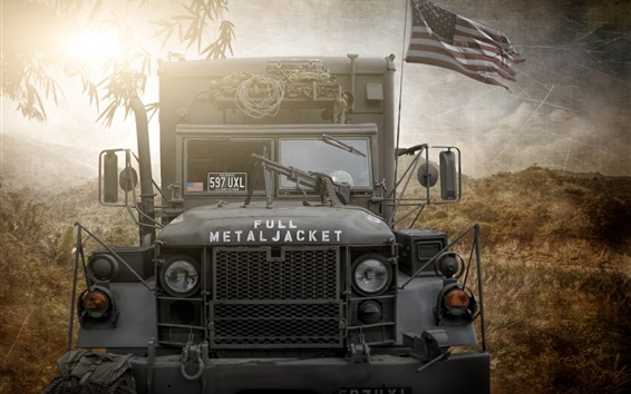 Wallpaper US army truck