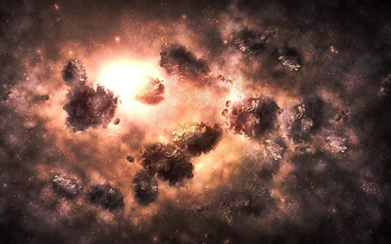 Wallpaper Universe, space, nebula explosion