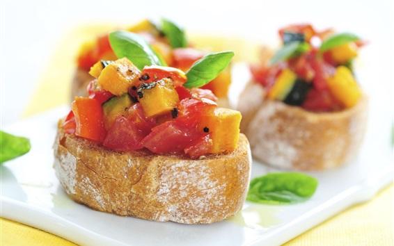 Wallpaper Vegetables sandwich, food