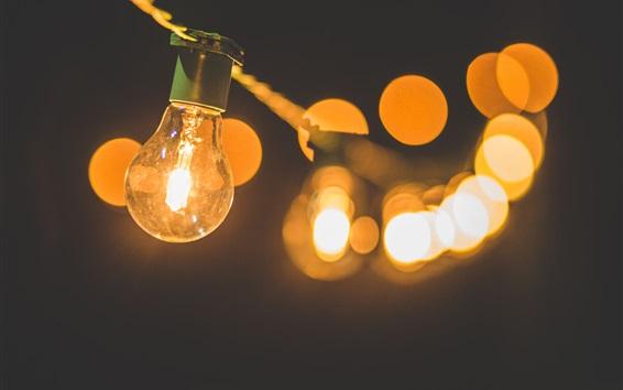 Wallpaper Warm lamp light, glare