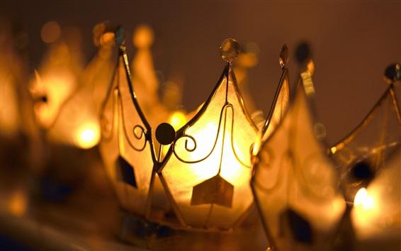 Wallpaper Warm lights, lanterns, golden