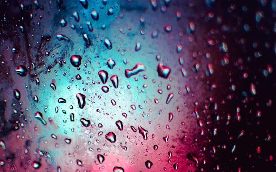 Wallpaper Water drops, colors