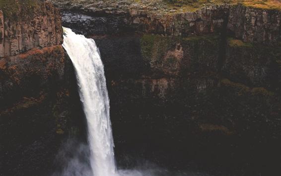 Wallpaper Waterfall, stream, precipice