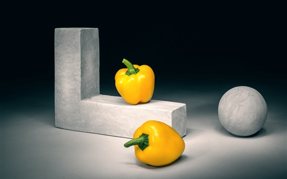 Wallpaper Yellow bell peppers, art photography