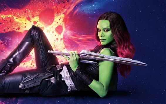 Fondos de pantalla Zoe Saldana, Guardianes de la Galaxia Vol. 2