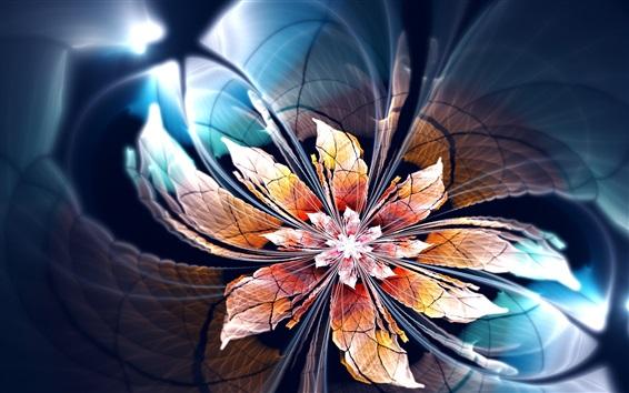 Wallpaper Abstract flower, light