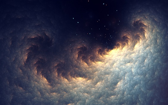 Wallpaper Abstract fractal, space, stars