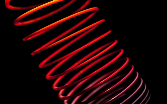 Wallpaper Abstract spiral, black background