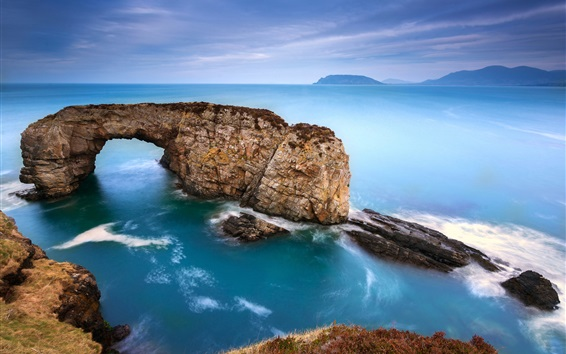 Papéis de Parede Arco, mar, pedras, da vista de cima
