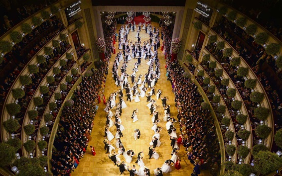 Wallpaper Austria, Vienna State Opera, hall, dance