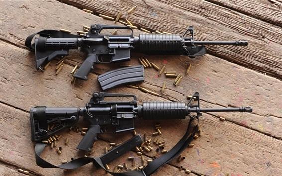 Wallpaper Automatic rifles, ammunition, guns, weapon
