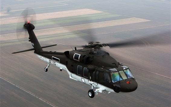 Wallpaper Black Hawk S-70i helicopter flight