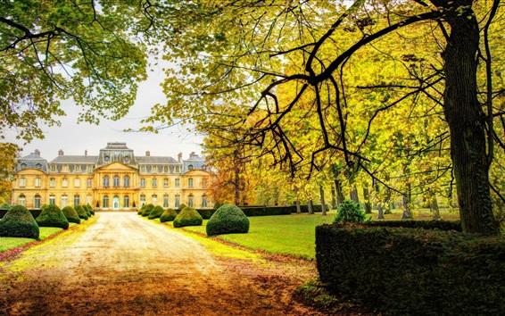 Wallpaper Castle, trees, autumn