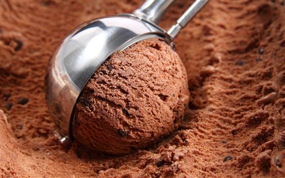 Обои Шоколадное мороженое, десерт